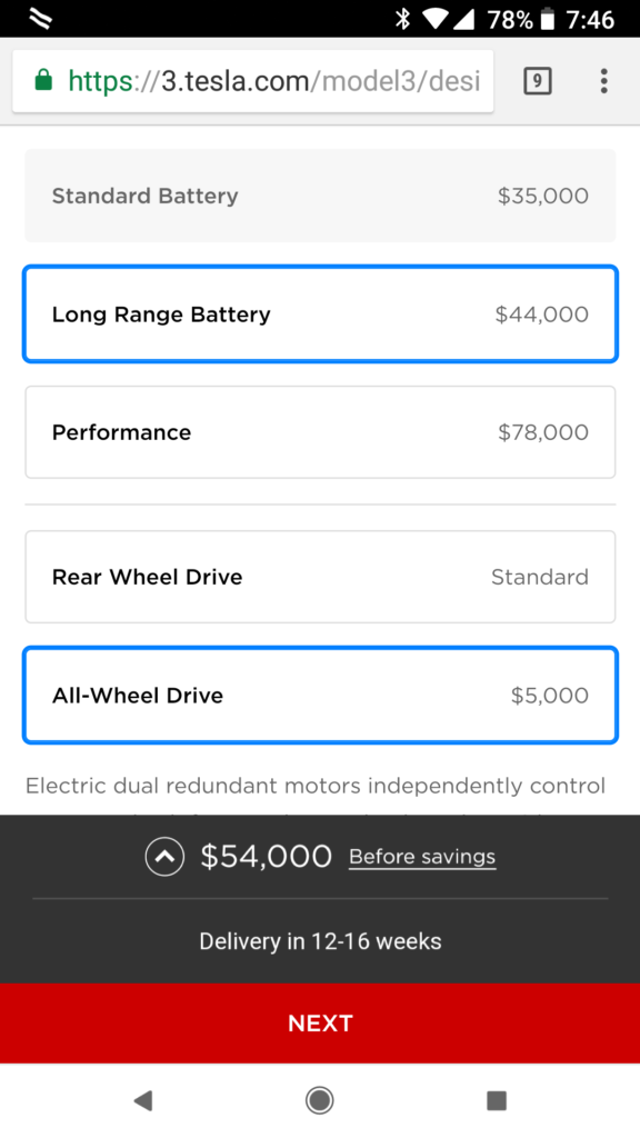tesla model 3 dual motor all wheel drive and performance versions are now available to order. Black Bedroom Furniture Sets. Home Design Ideas