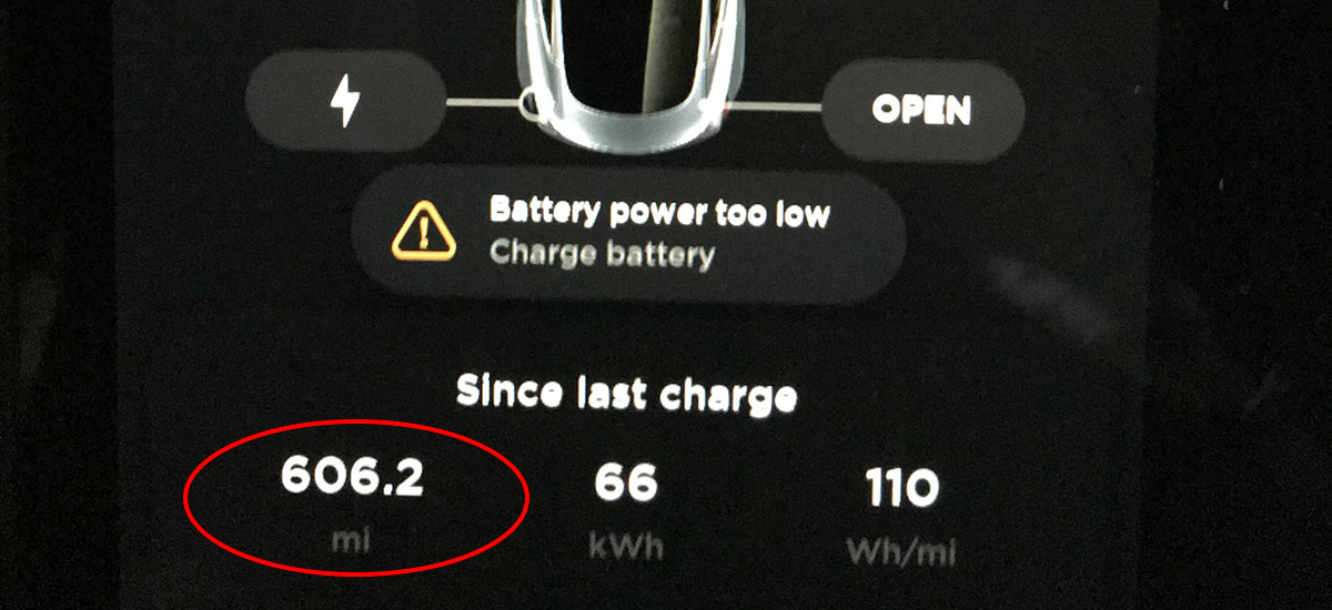 Tesla Model 3 hypermiling record of 606 miles