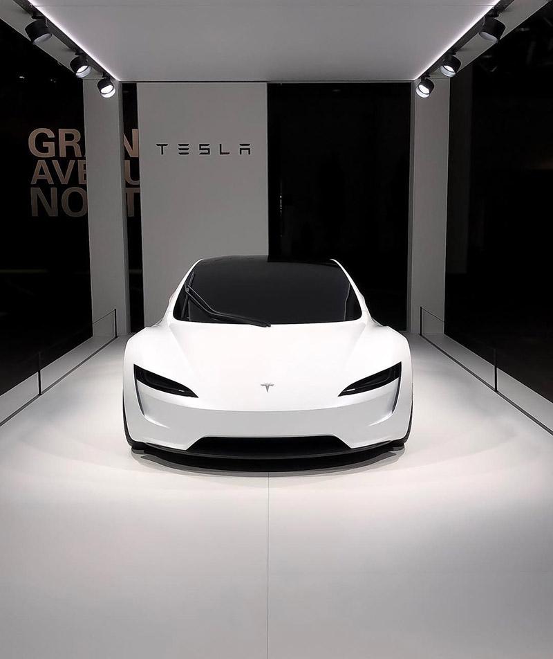 Tesla Roadster at the Grand Basel 2018