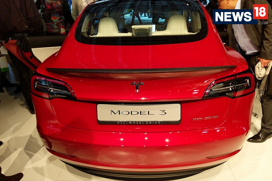 Tesla Model 3 at the 2018 Paris Motor Show - Rear View