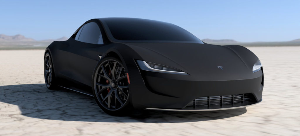 2020 Tesla Roadster Render in Matte Black