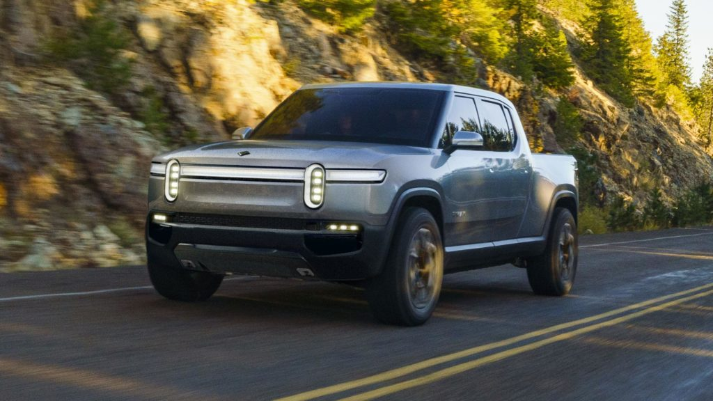Rivian R1T electric pickup truck - cruising