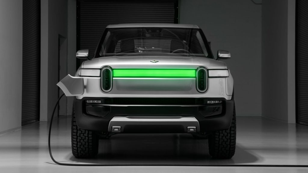 Rivian R1T electric pickup truck - charging