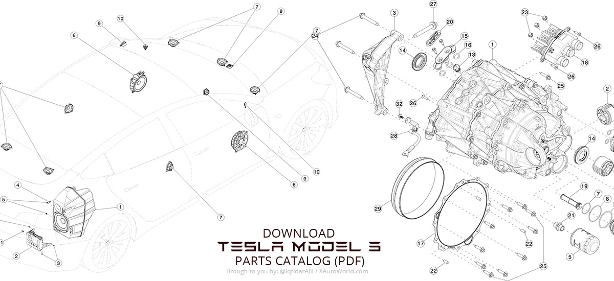 Download Tesla Model 3 Parts Catalog in PDFs