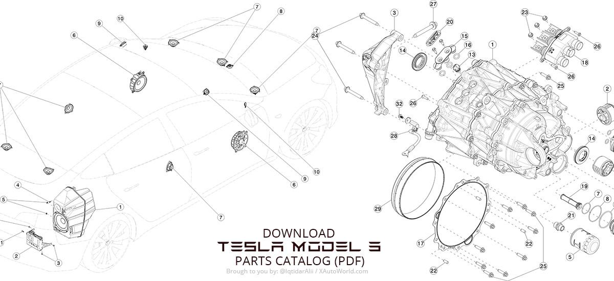 Download The Tesla Model 3 Parts Catalog In Pdf X Autorhxautoworld: Tesla Parts Catalog At Gmaili.net