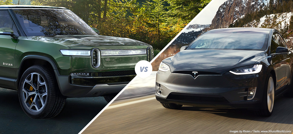 Rivian R1S SUV vs Tesla Model X spec to spec comparison