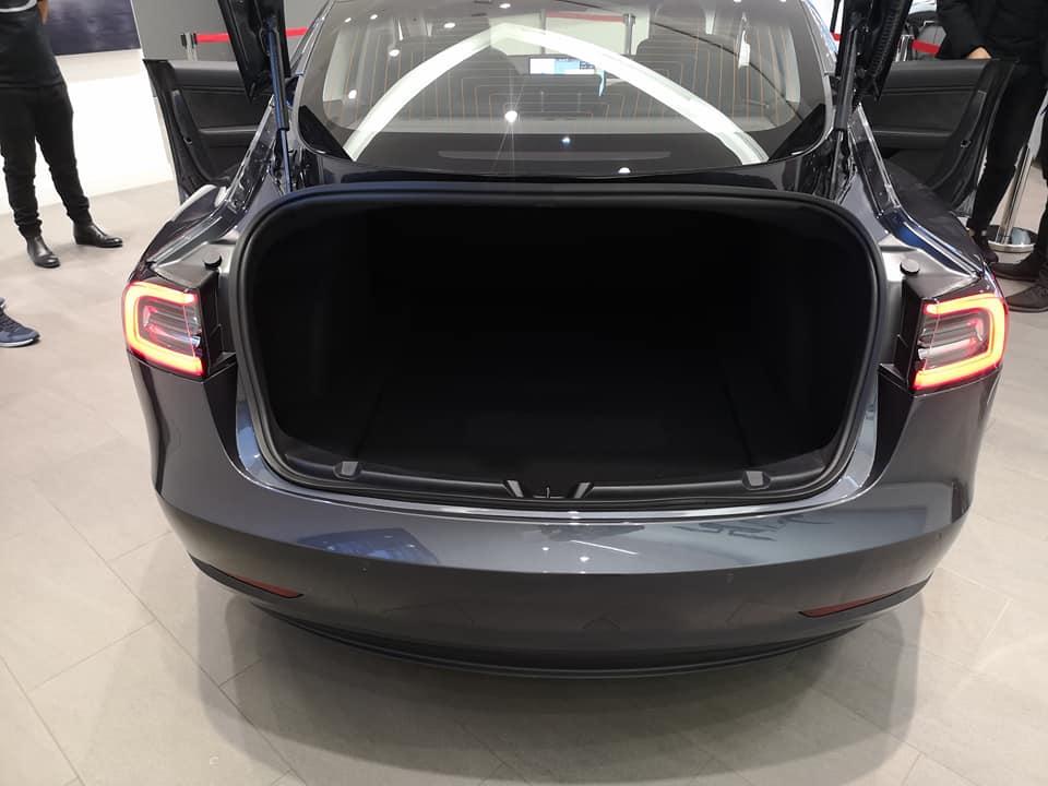 Tesla Model 3 on display at the Tesla Store in Düsseldorf, Germany.