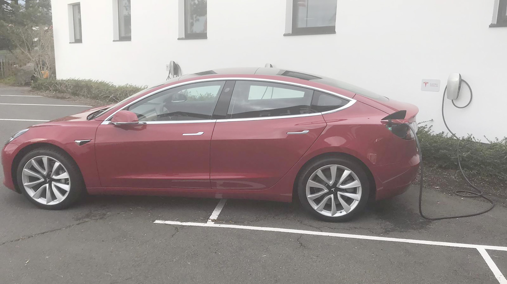 Tesla Model 3 Europe - Spotted at Tesla Grohmann, Germany