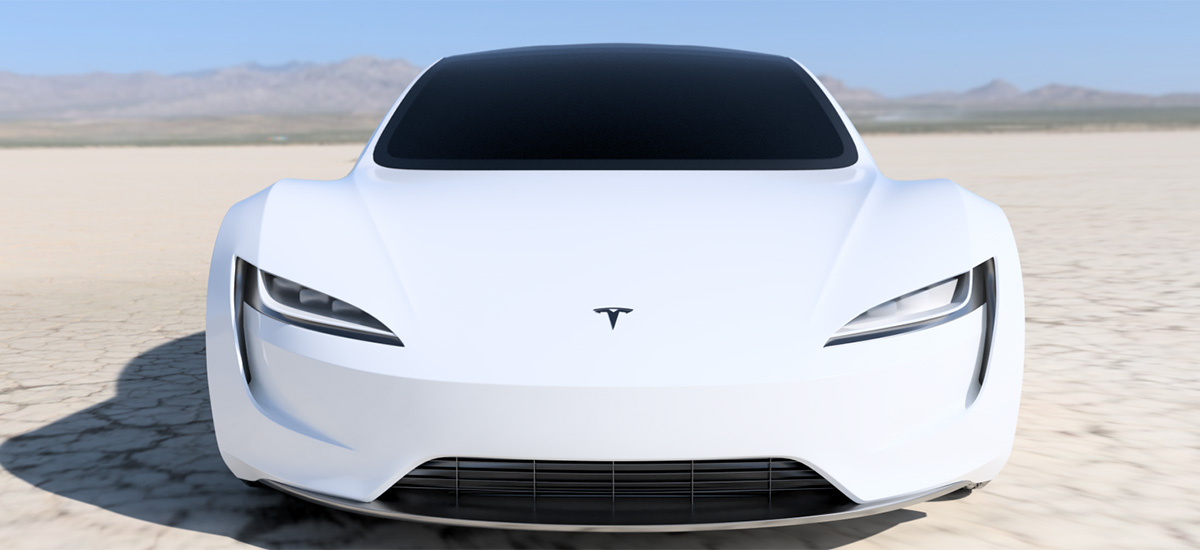 2020 Tesla Roadster high-res render in white