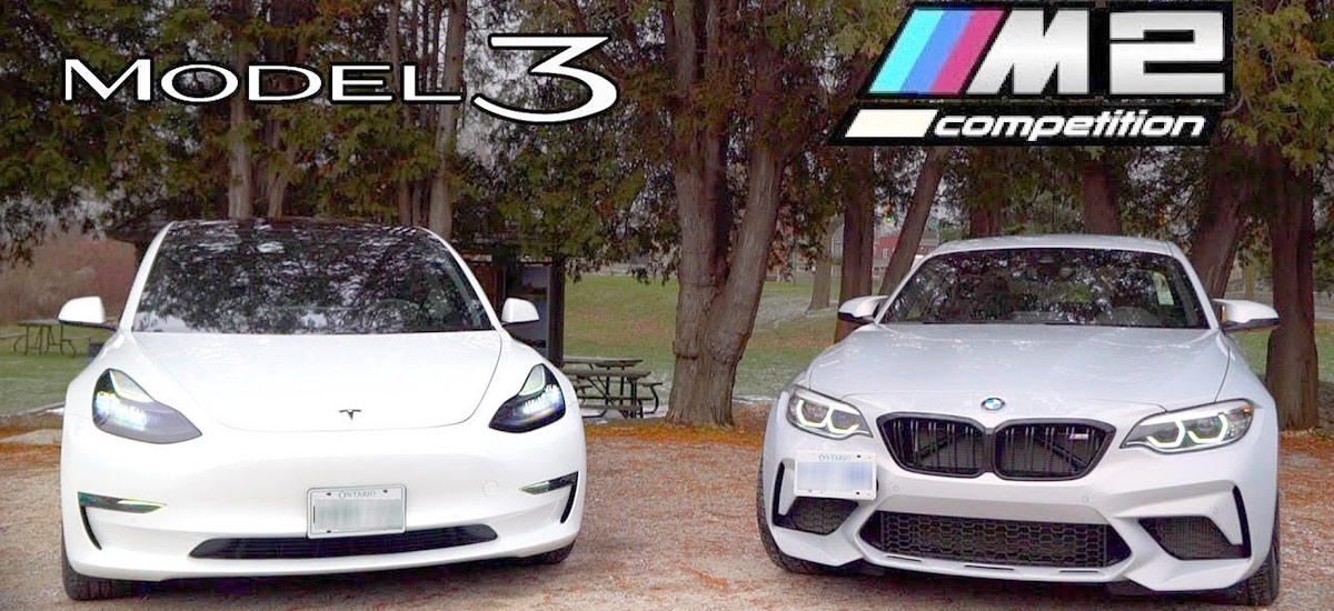 Tesla Model 3 vs. BMW M2 driving experience comparison