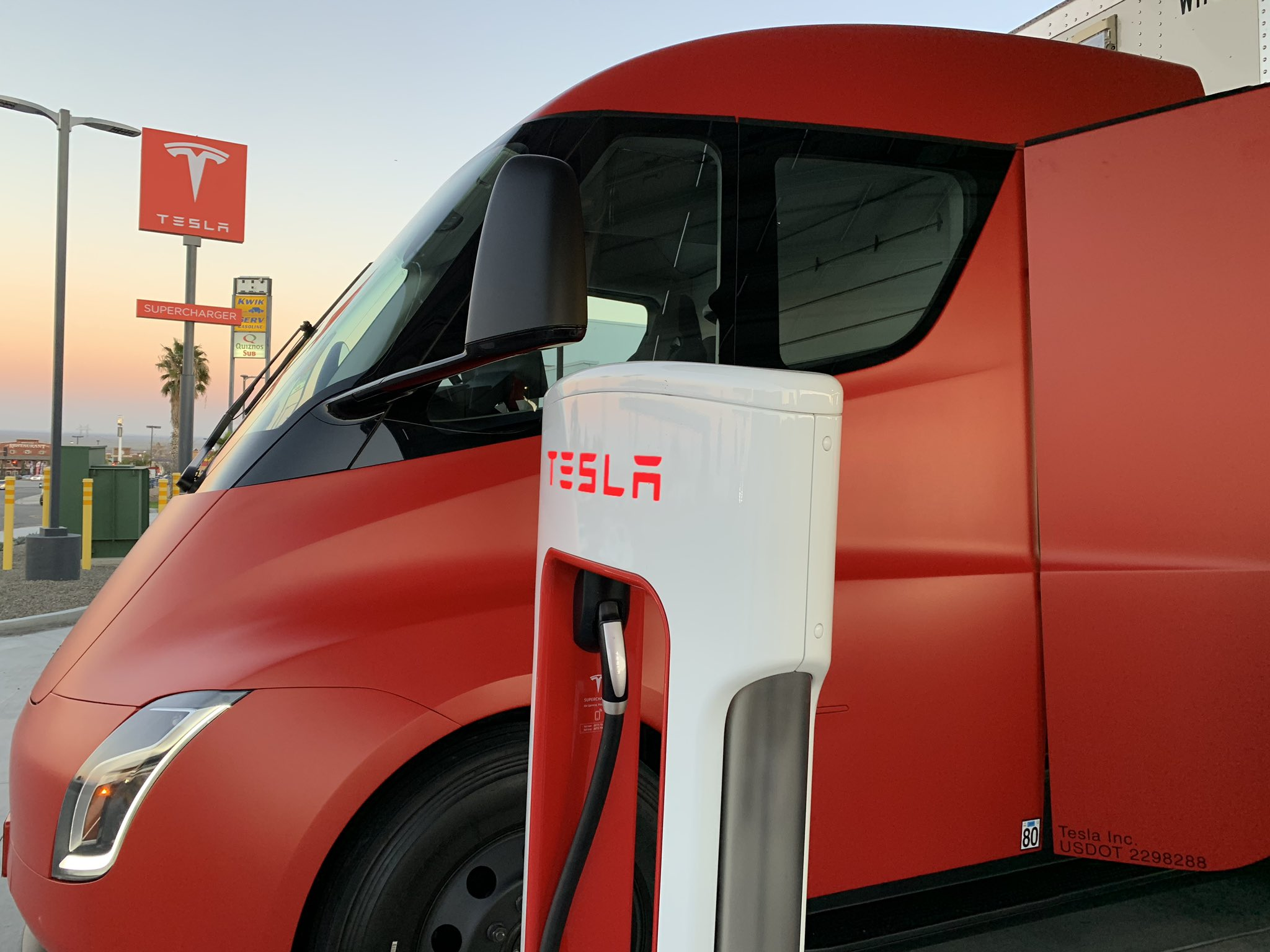 We present to you the 'Red Tesla Semi Truck' [HD Photos]
