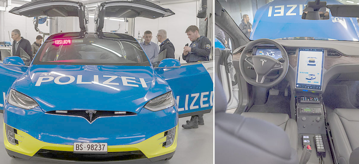Modified Tesla Model X is a new addition to Basel City Police Department in Switzerland