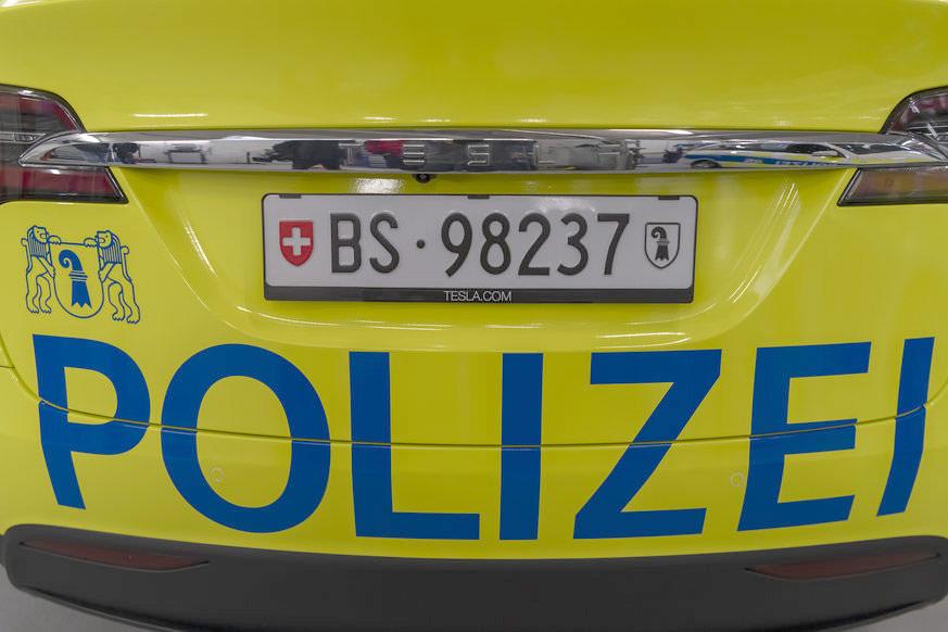 Basel City Police's Tesla Model X 100D - Rear Closeup
