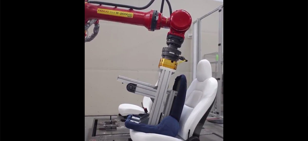 FANUC Robot (Groot) testing Tesla Model 3 seats