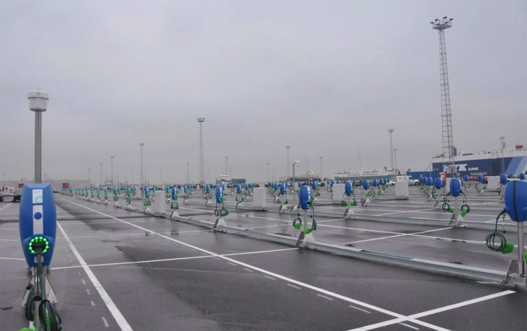 3,000 EV chargers at the Port Of Zeebrugge, Belgium for Model 3 shipments