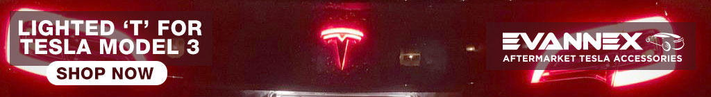 Ligthed 'T' for Tesla Model 3 by EVANNEX
