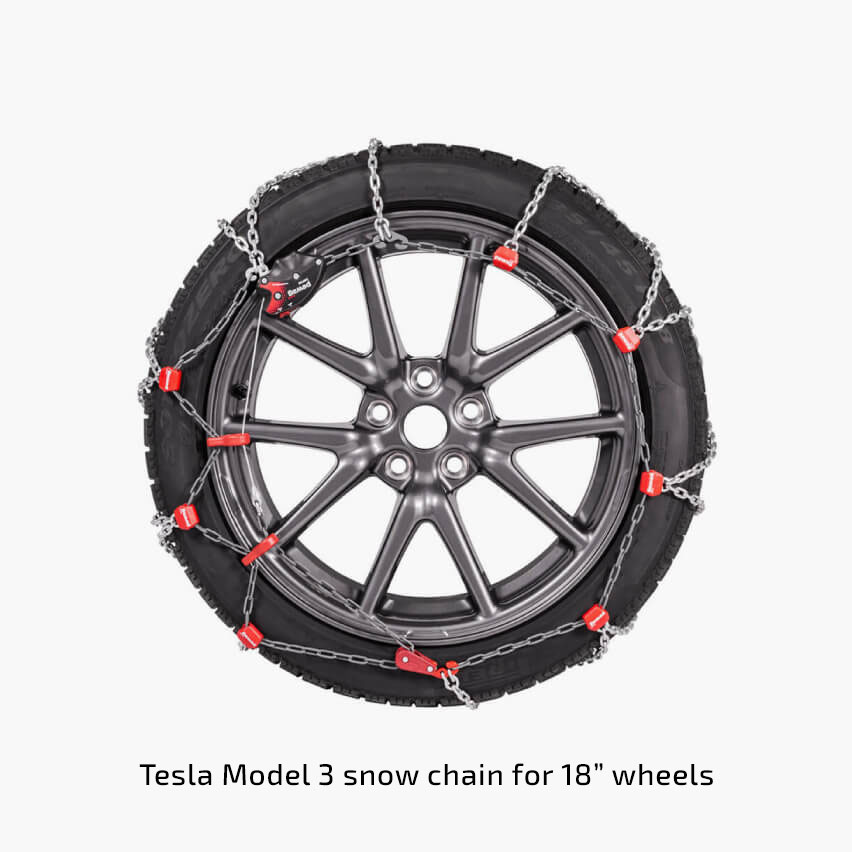 Tesla introduces 'snow chain' for Model 3 18″, 19″ and 20″ wheels