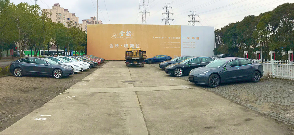 Tesla Model 3 Performance at the Tesla Store in Jinqiao, Shanghai, China