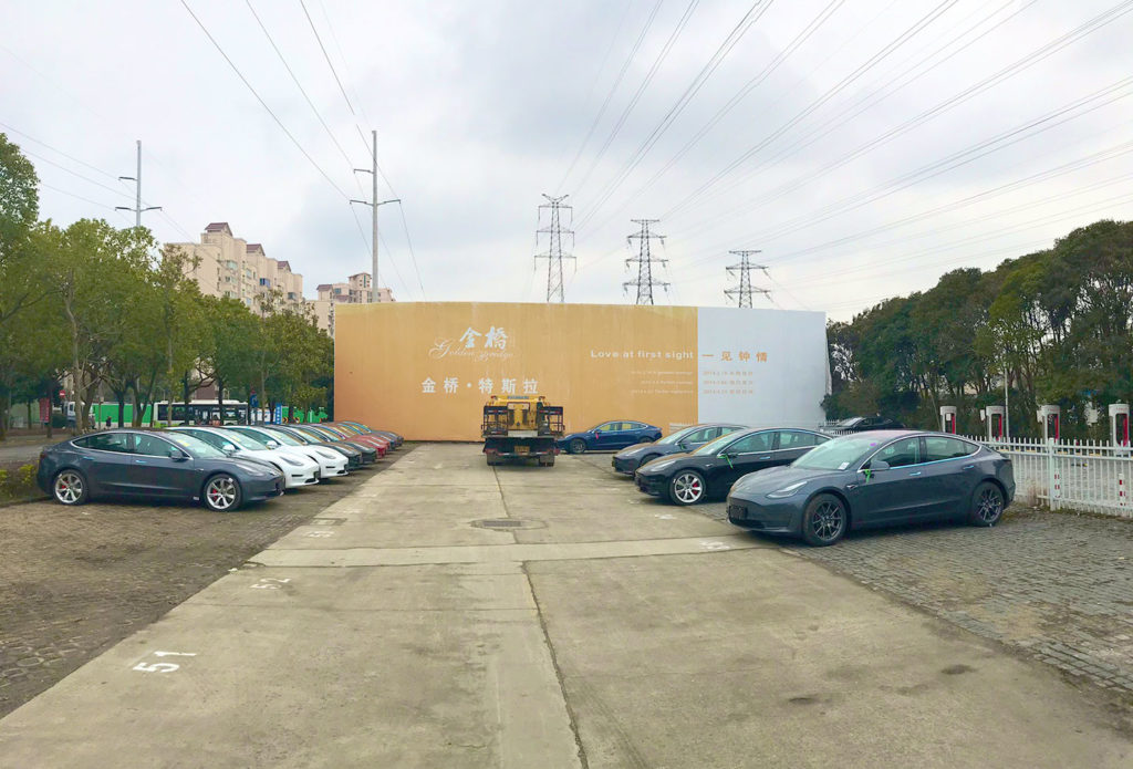 Tesla Model 3 delivery day in Tesla Store Jinqiao, Shanghai.