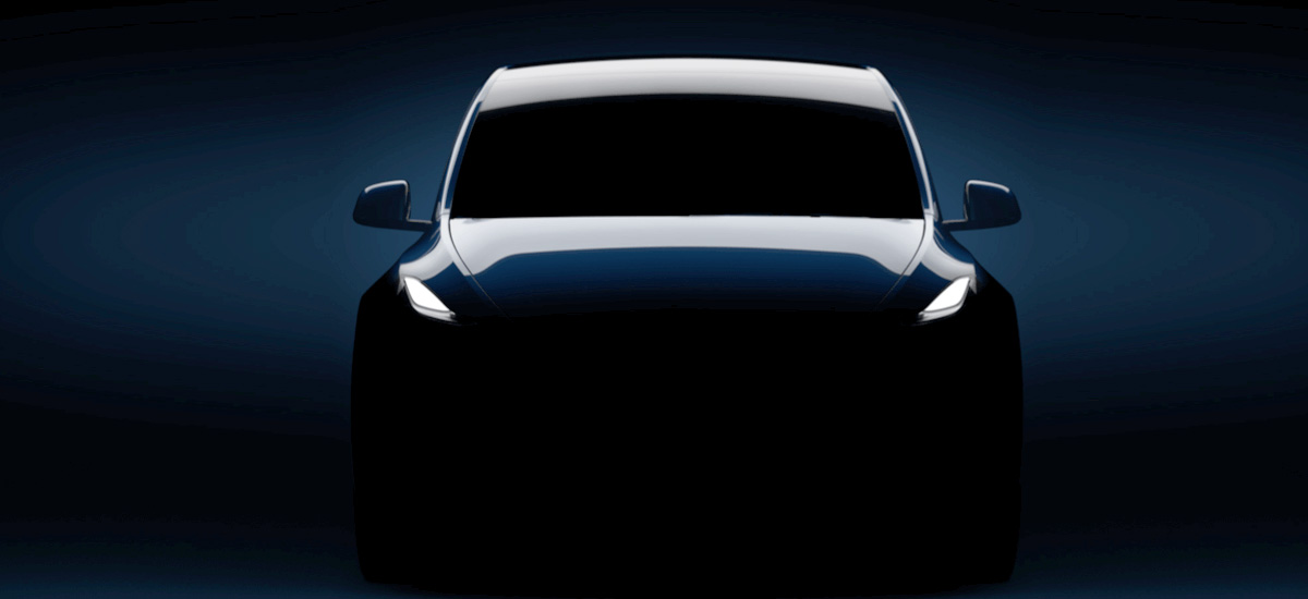 Tesla Model Y new teaser image on website and email invites to Mar 14 event.
