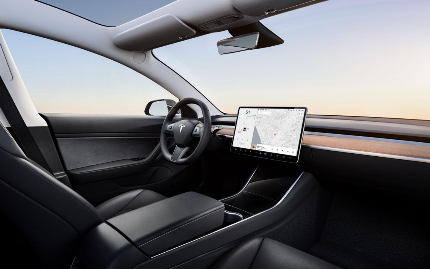 first look tesla model 3 standard range plus compare audio with premium sound. Black Bedroom Furniture Sets. Home Design Ideas