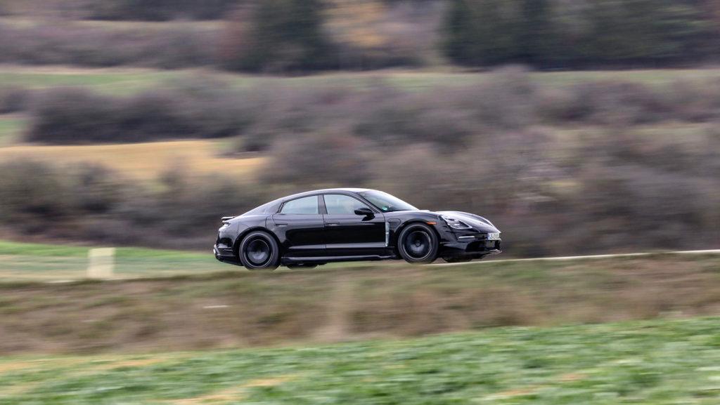 Porsche Taycan prototype - side view
