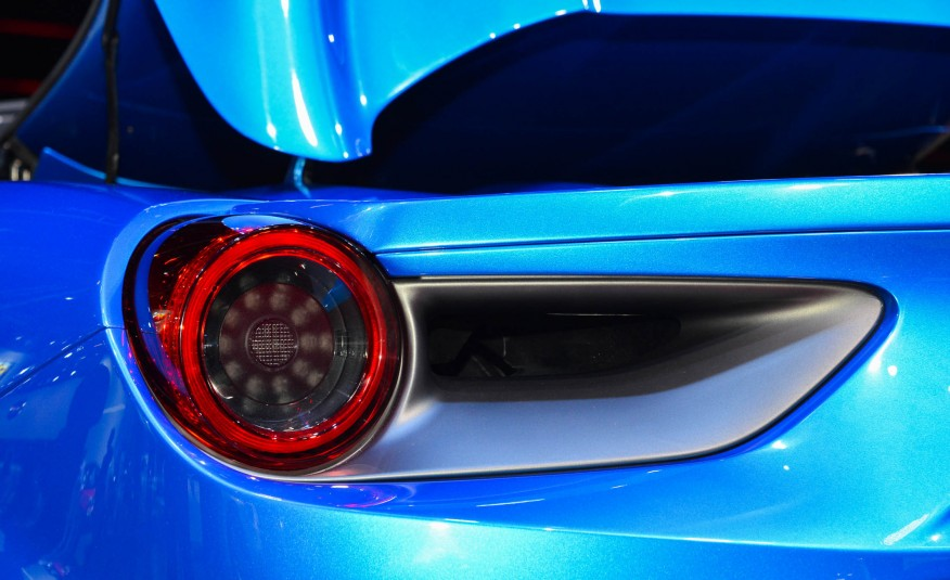 2016 Blue Ferrari 488 Spider Rear Light Closeup