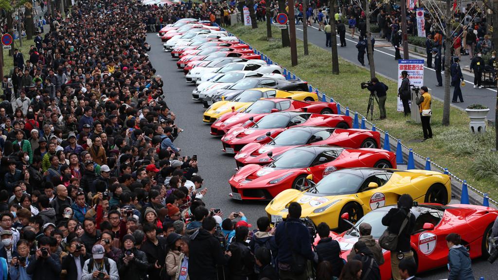 Ferraris On Osaka Street