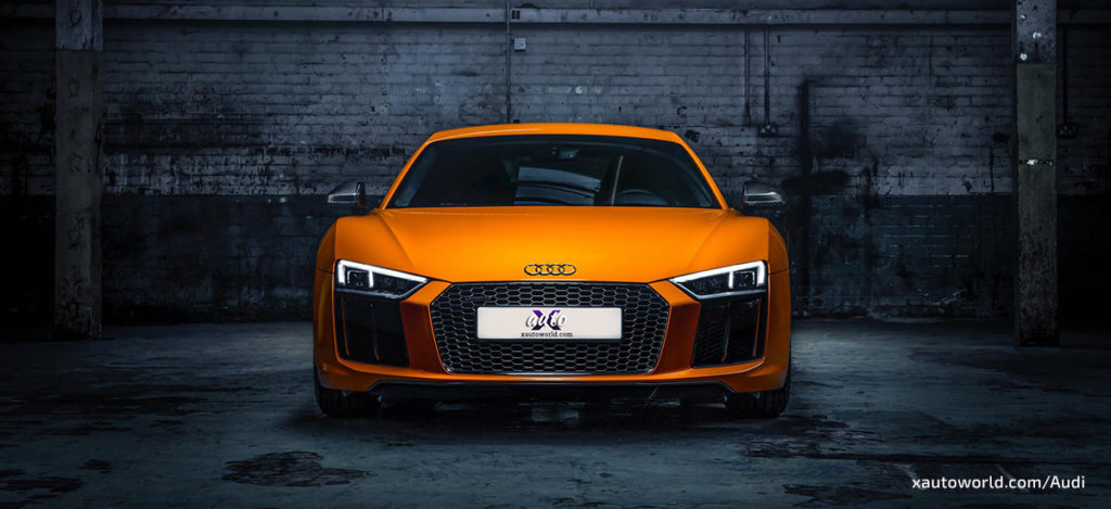 2017 Audi R8 Orange Wallpapers