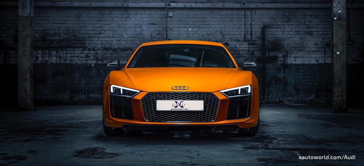 2017 Audi R8 Orange Wallpapers