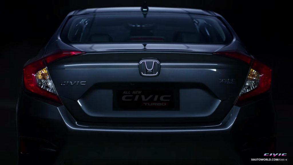 2016 Civic Turbo Rear View