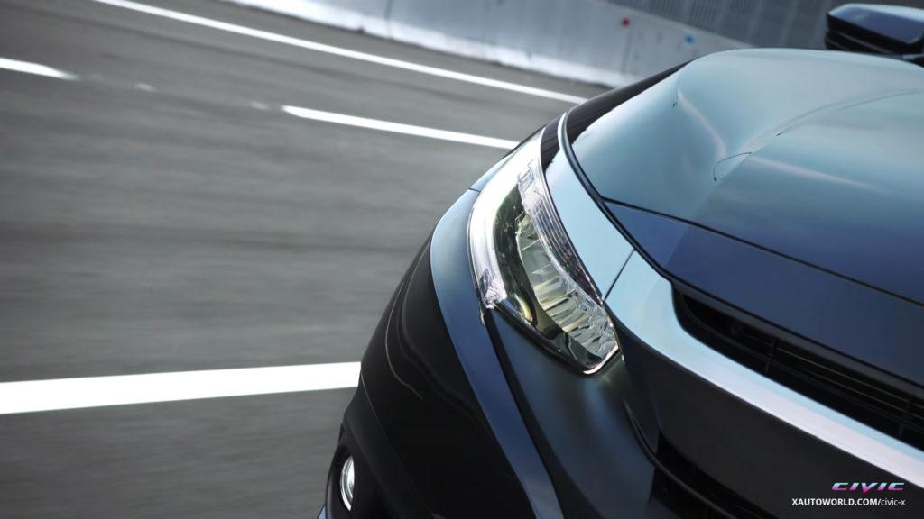 2016 Civic Touring LED Headlamps Close-Up 02