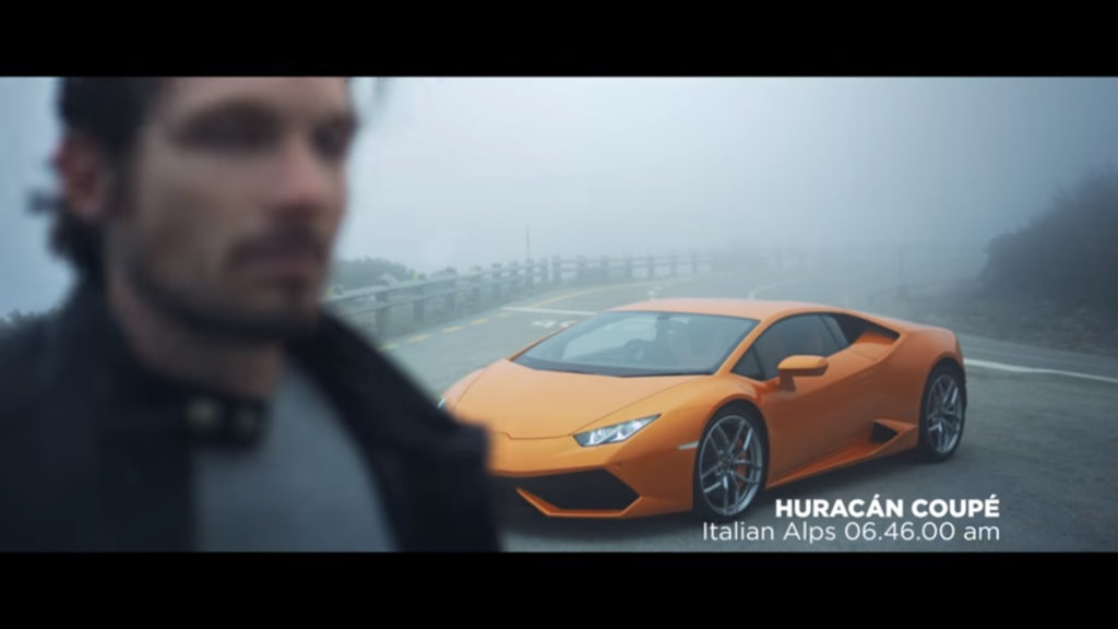 Huracan Coupe starting race from the Italian Alps