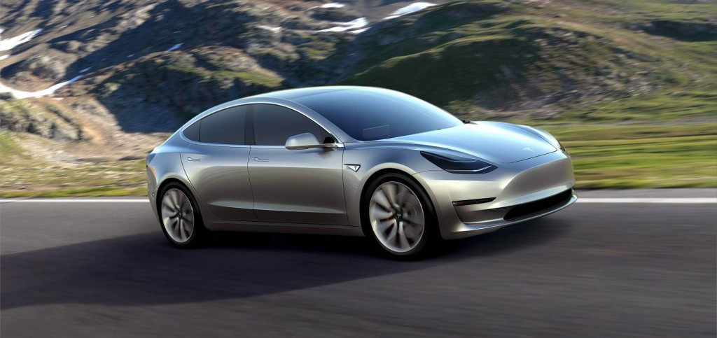 Tesla Model 3 Front Sideview