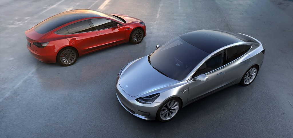 Tesla Model 3 Red & Gray