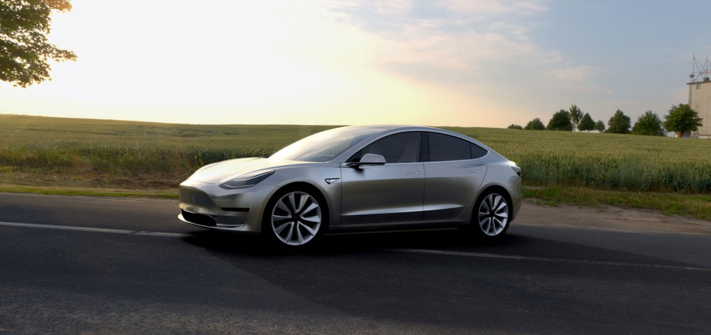Tesla Model 3 Side View