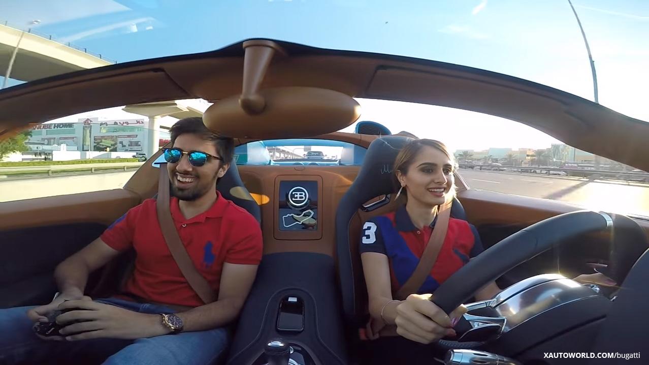 Girl Driving Bugatti Veyron In Dubai