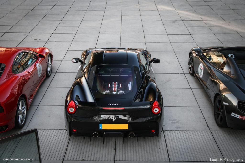 Ferrari 458 Speciale Black Top View