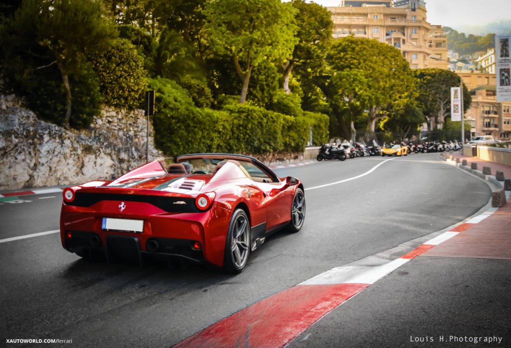 Red Ferrari 458 Speciale Aperta