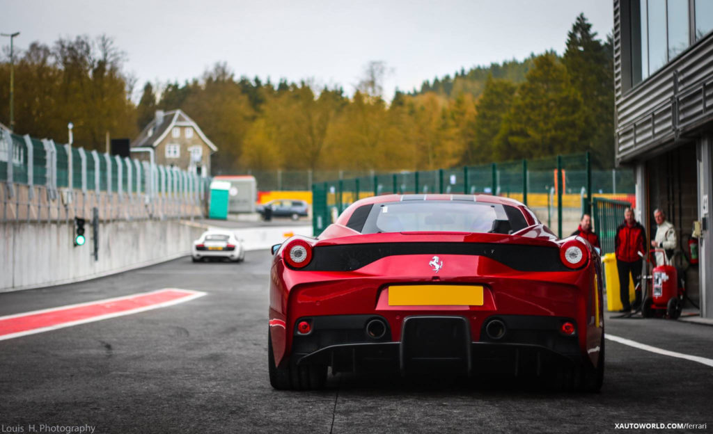 Ferrari 458 Speciale Red Awesome Rear View