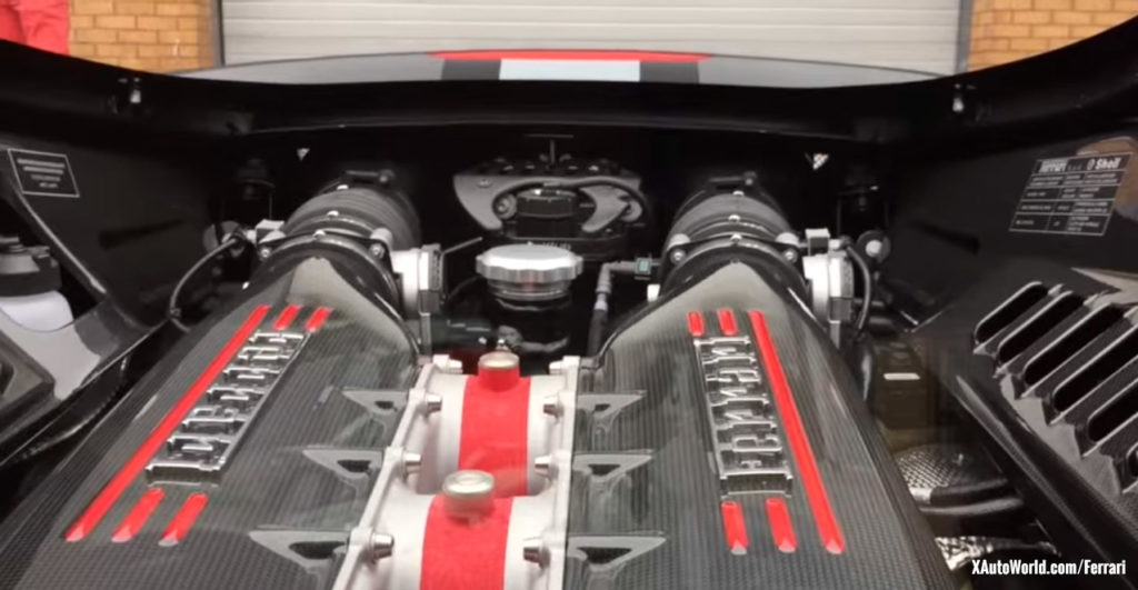 Ferrari 458 Speciale Carbon Fibre Engine Bay