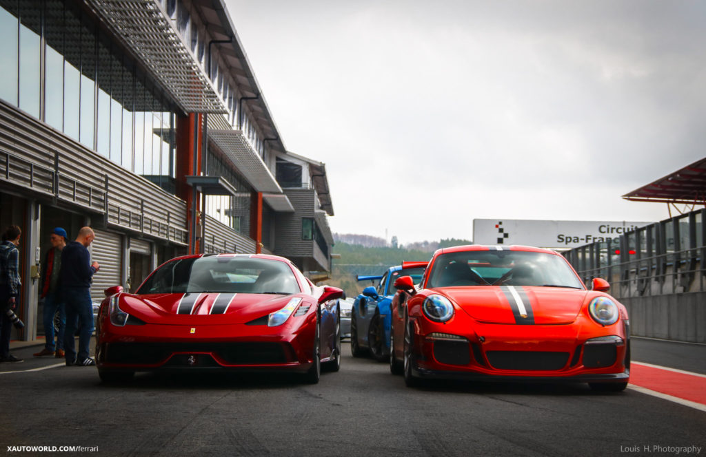 Ferrari 458 Speciale with GT3 RS