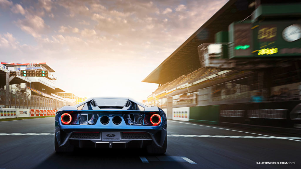 2017 Ford GT Taillamps and Exhaust