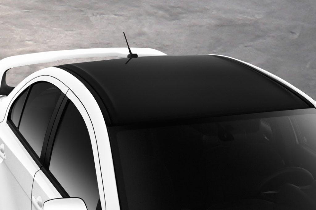 Final Edition Lancer Evolution Black Painted Rooftop