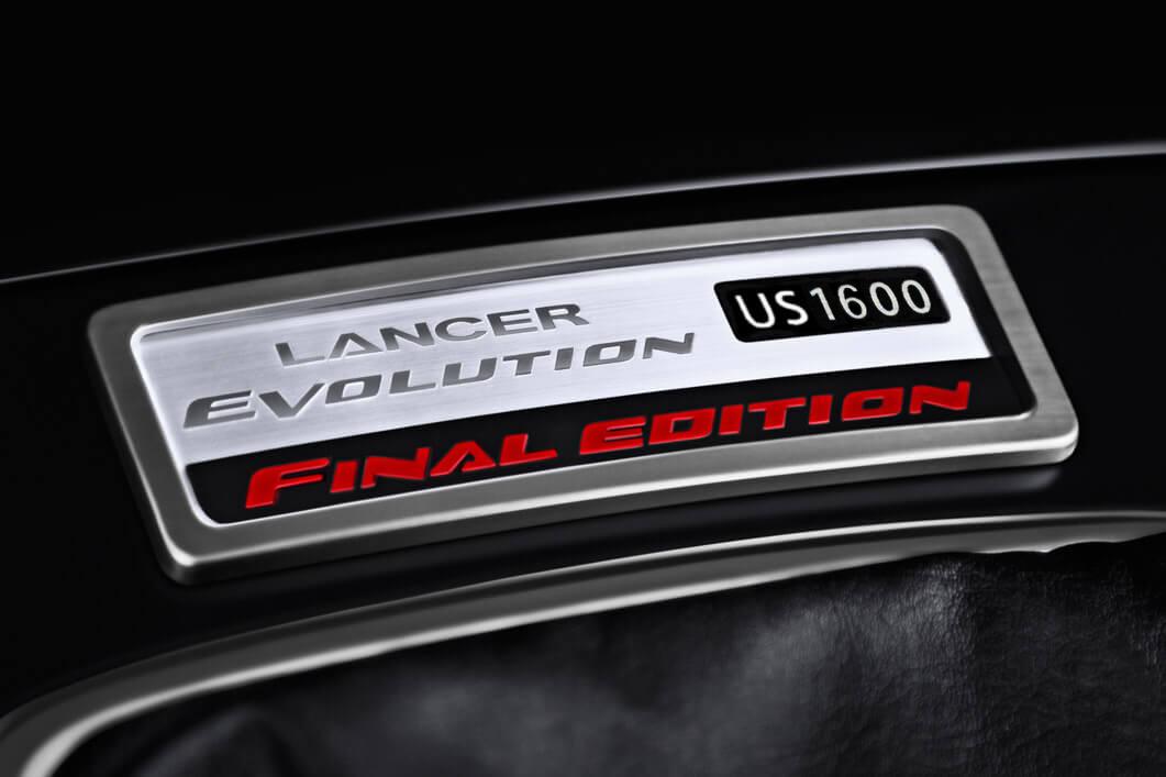Lancer Evolution Final Edition Badge