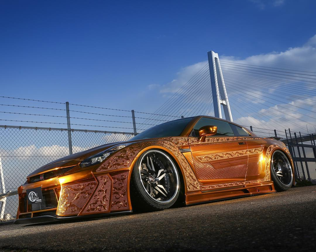 Gold Plated Nissan GT-R