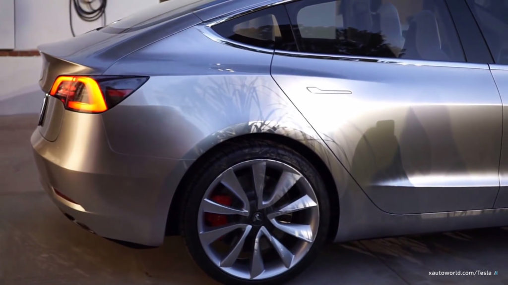 Exclusive Model 3 HD Photos - Rear Side