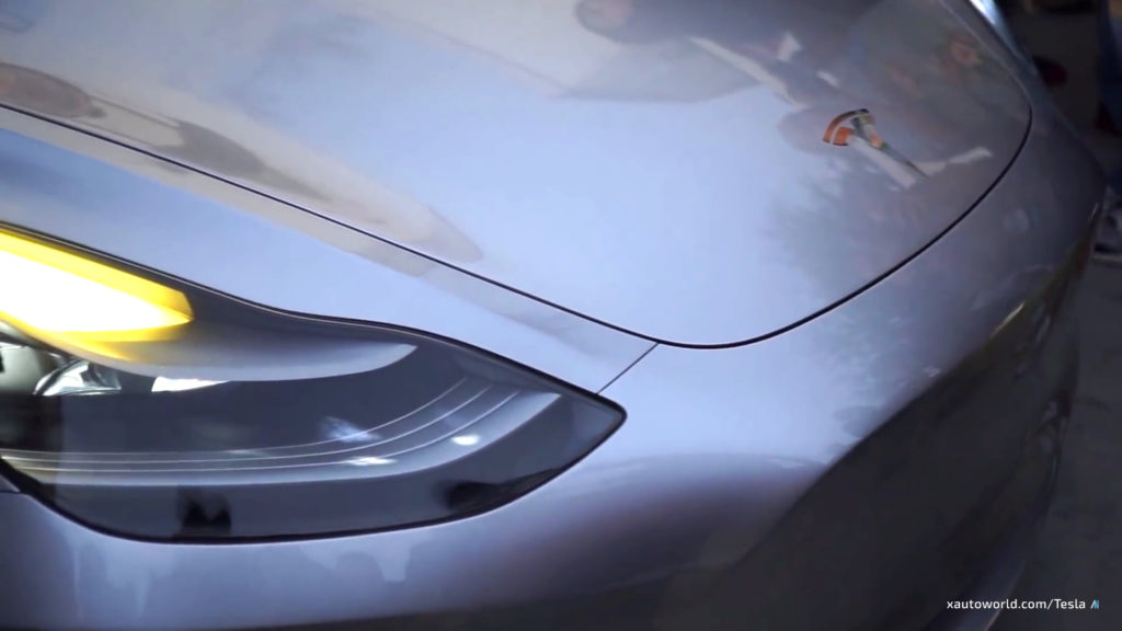 Exclusive Model 3 HD Photos - Headlight Closeup 2
