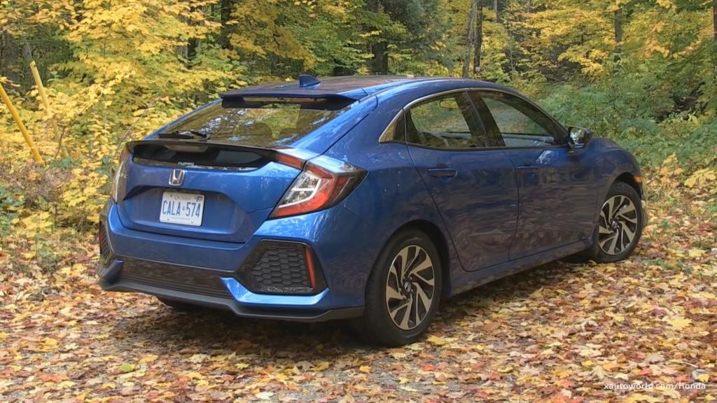 2017 Honda Civic Hatchback LX Rear View, Canada