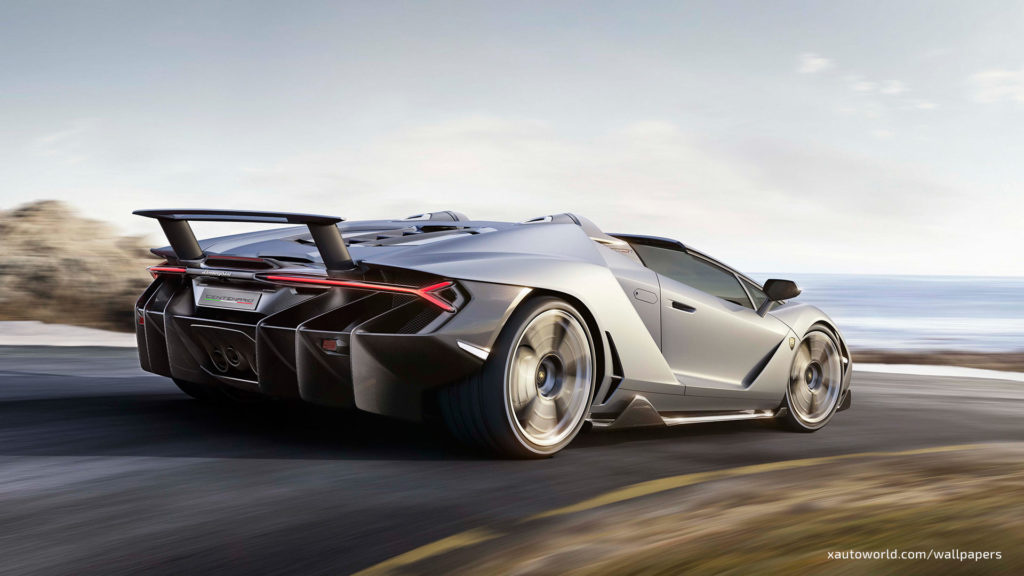 Centenario Roadster Wallpaper - Gray Rear View